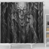 Shower Curtain - Creepy Ghoul b/w