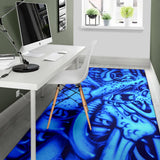 Area Rug - Blue Monster