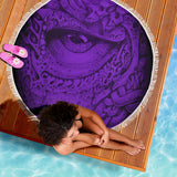 Beach Blanket - Eye Matrix purple
