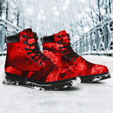 All Season Boots - Red Skull Pile