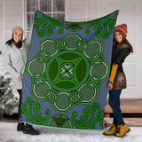 Premium Blanket - Slaya Collection - Octagon Swirl green