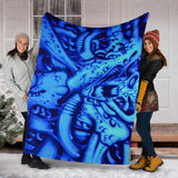 Premium Blanket - Blue Monster