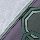 Premium Blanket - Slaya Collection - Octagon Swirl gray/green