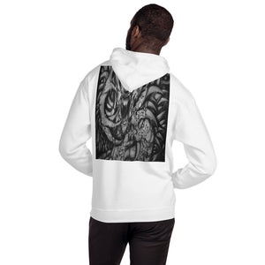Hooded Sweatshirt - Monster with Claws b/w