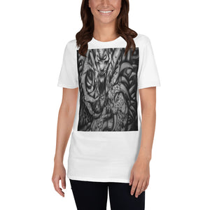 Short-Sleeve Unisex T-Shirt - Monster with Claws b/w 1