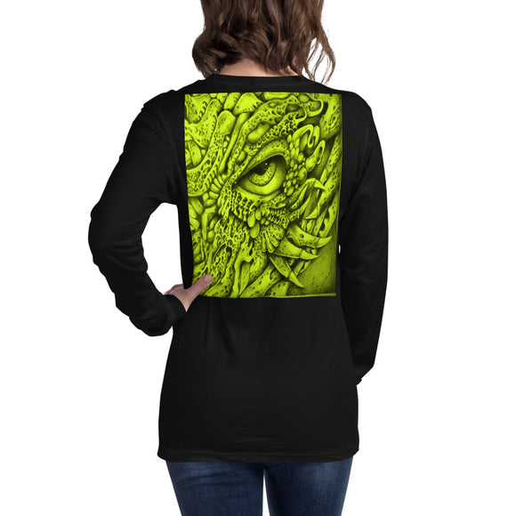 Unisex Long Sleeve Tee - Yellow Eyed Dragon