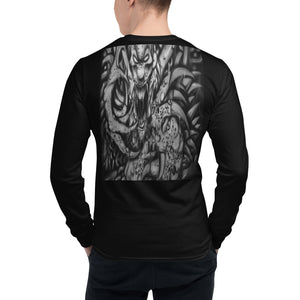 Men's Champion Long Sleeve Shirt - Monster with Claws b/w