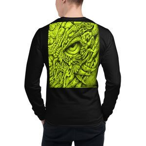 Men's Champion Long Sleeve Shirt - Yellow Eyed Dragon