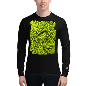 Men's Champion Long Sleeve Shirt - Yellow Eyed Dragon b