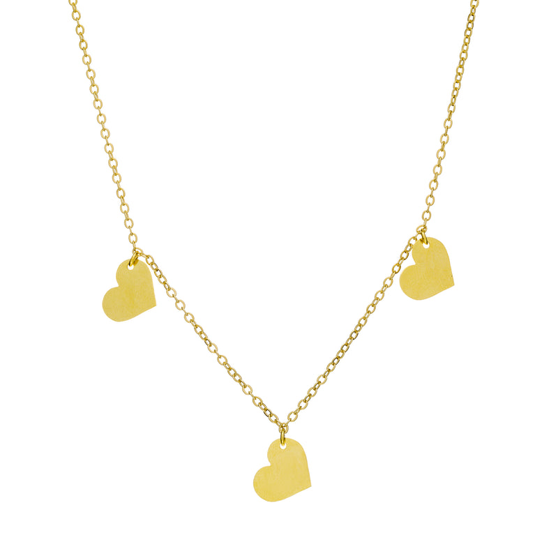 Mini 3 Hearts Necklace