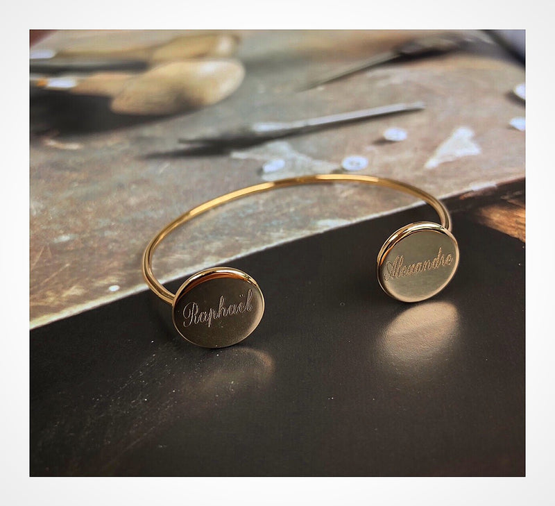 Engraved Goldplated Bangle