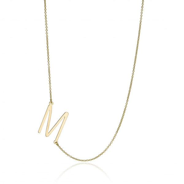 Assymetric Initial Necklace