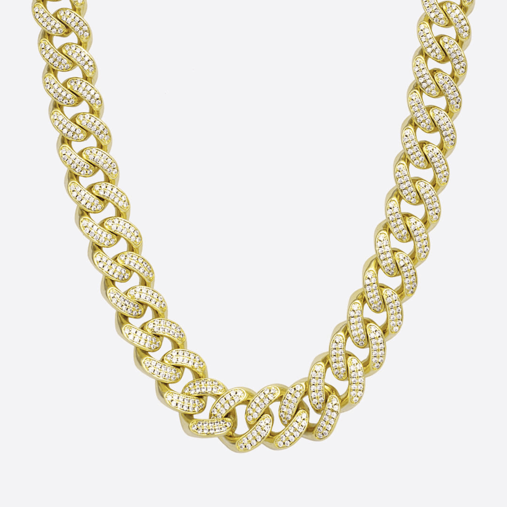 Diamante Cubana 12MM - ORO 18 KILATES