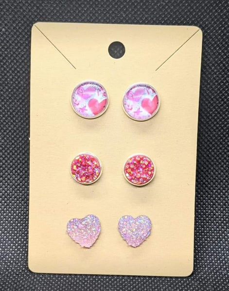Valentine's Post earrings