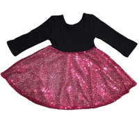 Black Dress with Pink Sequin Skirt