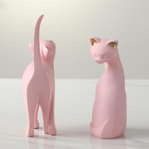 Pink Cat Figurine