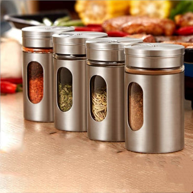 Cuisac Stainless Steel Spice Jars (Set of 4)