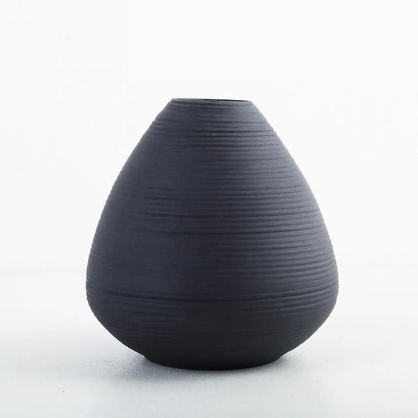 Mendoza Black Table Vase