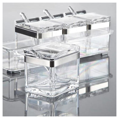 Meridien Spice Jar & Rack Set (Set of 4)
