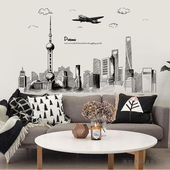 Dream City Wall Decal (Set of 2)