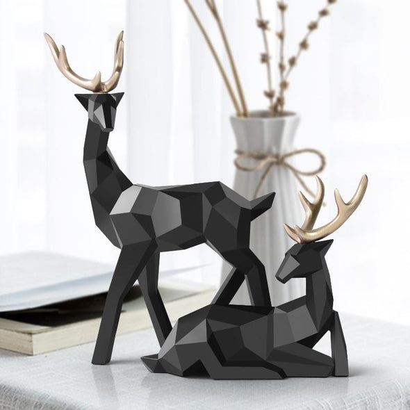 2 Piece Resting Deers Sculpture Set by Gellert & Co