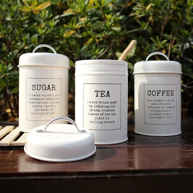 3 Piece Coffee, Tea, & Sugar Jar Set