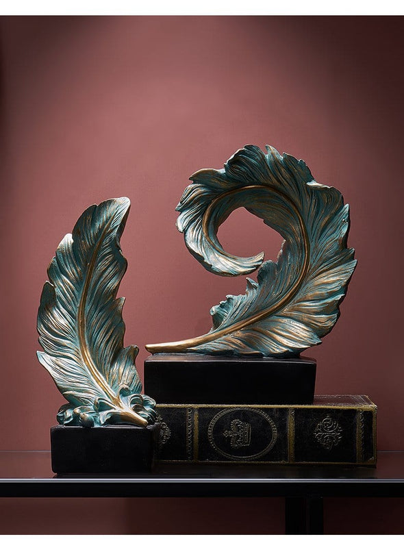Suni Feather Decorative Sculpture