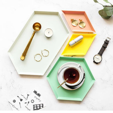 Amatica 4 Piece Geometric Decorative Tray Set