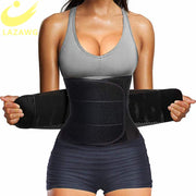 LAZAWG Women Waist Trainer Belt Tummy Control Waist Cincher Trimmer Sauna Sweat Workout Girdle Slim Belly Band Sport Girdle