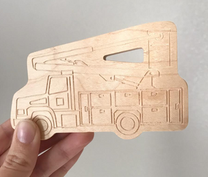 Bucket Truck - Wood Teether