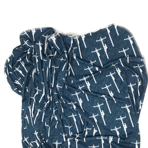 Navy Powerline - Swaddle