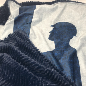 Baby Blanket - Navy Lineman