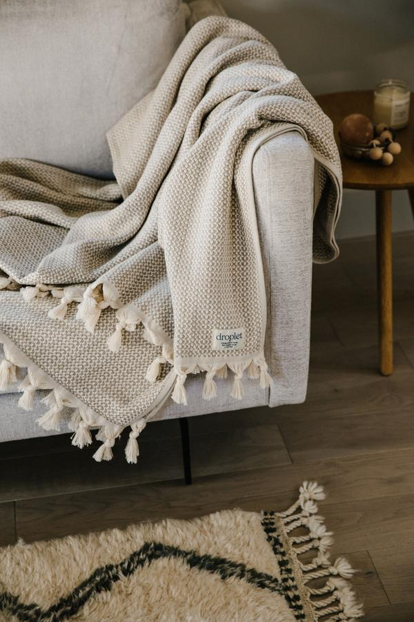 ORGANIC Cotton Handloomed Throw Blanket
