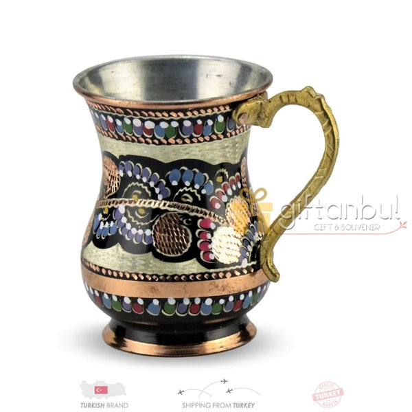 Copper Mug Cup Stoup Tankard 100% Pure Handmade Copper Cup, Turkish Traditional Mug