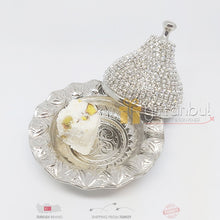 Load image into Gallery viewer, Turkish Delight and Sugar Bowl Swarovski Stone Design Candy Dish With Lid Decorative Authentic Medieval Style Wedding Gift