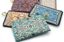 Load image into Gallery viewer, Turkish Coin Purse Traditional Carpet Design Bohemian Bags Handy Storage Make-Up Bags Oriental Zippered Envelop Bags