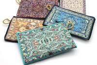 Turkish Coin Purse Traditional Carpet Design Bohemian Bags Handy Storage Make-Up Bags Oriental Zippered Envelop Bags