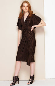 Sacha Drake - Tosca Dress in Dark Chocolate Lurex