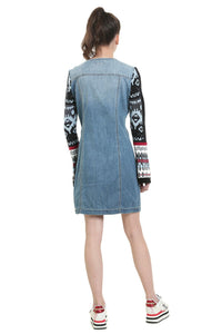 Desigual - Long bell sleeve denim dress/tunic