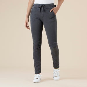 THREADZ - Jogger Pant - pull-on side pocket tapered pant charcoal