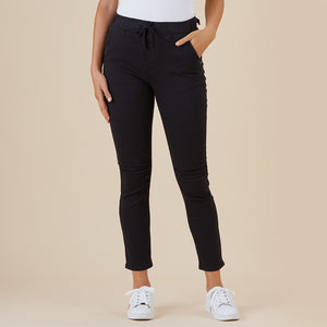 THREADZ - Jogger Pant - pull-on side pocket tapered pant black