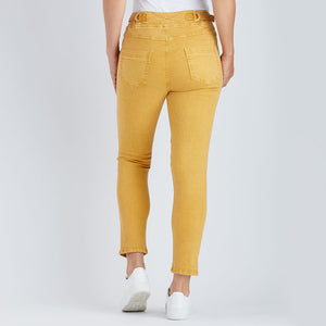 THREADZ - Jogger Pant - pull-on side pocket tapered pant warm gold