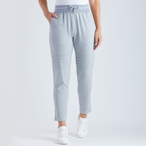 THREADZ - Knee detail Track pant Grey