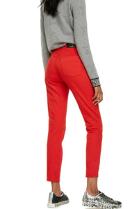 DESIGUAL - Womens ankle Jean Racing Red