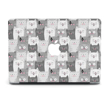 Load image into Gallery viewer, Cute Smiling Cats Painted MacBook case for Mac Air Pro M1 13 16 Cover Skin SN81