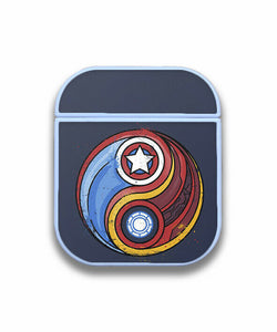 Iron Man Captain America Case for AirPods 1 2 3 Pro protective cover skin irm2