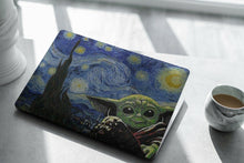 Load image into Gallery viewer, Starry Night Star Wars Baby Yoda child MacBook case for Mac Air Pro M1 13 16 15