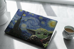 Starry Night Star Wars Baby Yoda child MacBook case for Mac Air Pro M1 13 16 15