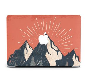 Nature Painted Mountain MacBook case for Mac Air Pro M1 13 16 Cover Skin SN151