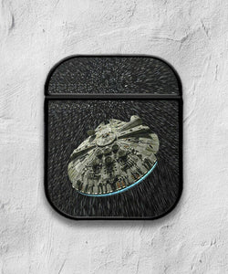Star Wars Falcon case for AirPods 1 or 2 protective cover skin